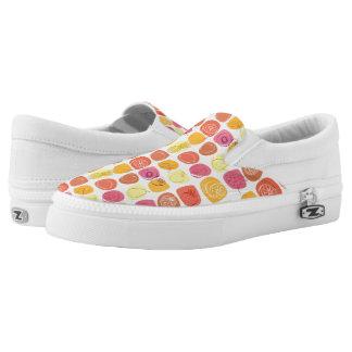 Fruit pattern slip on shoes