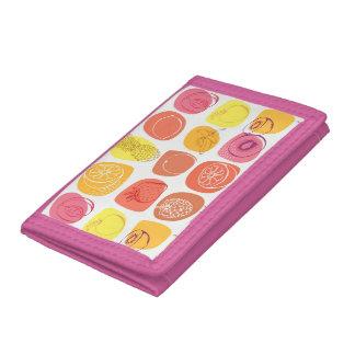 Fruit pattern trifold wallet