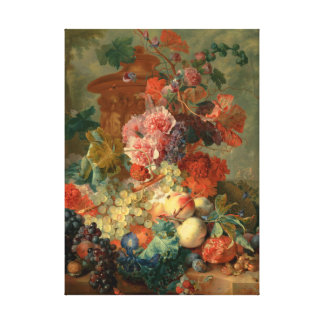 Fruit Piece - Jan van Huysum (1722) Stretched Canvas Prints
