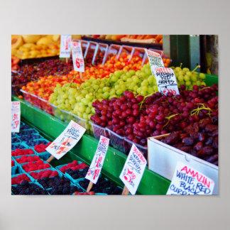 Fruit rainbow poster