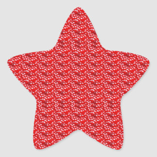 Fruit Red Seed Texture DIY Template add text image Star Sticker