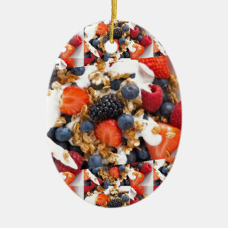 Fruit Salad Foods Chef Healthy Eating Cuisine Art Christmas Ornament