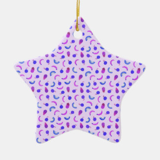 Fruit Salad in Purple Christmas Ornament