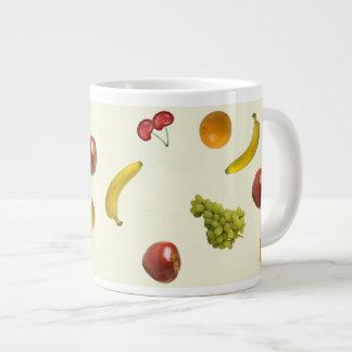 Fruit Salad Jumbo Mug 20 Oz Large Ceramic Coffee Mug