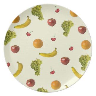 Fruit Salad Melamine Dinner Plate