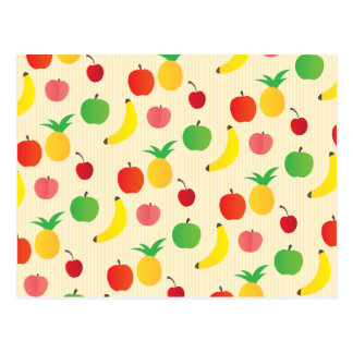 Fruit Salad Pattern Postcard