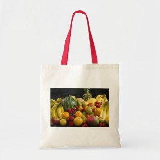 Fruit Salad Peace Love Destiny Colorful Tropical Bags