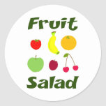Fruit Salad Round Stickers