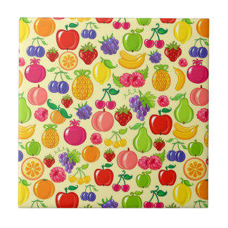 Fruit Small Square Tile