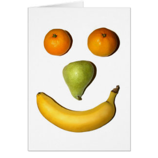 Fruit Smiley Face Card