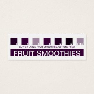 FRUIT SMOOTHIE customer appreciation (mod squares) Mini Business Card