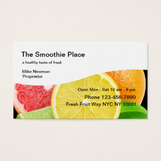 Fruit Smoothie Shop Business Card