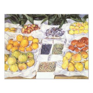 Fruit Stand by Caillebotte, Vintage Impressionism 11 Cm X 14 Cm Invitation Card