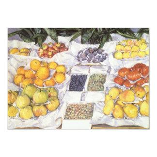 Fruit Stand by Caillebotte, Vintage Impressionism 13 Cm X 18 Cm Invitation Card