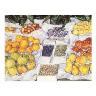 Fruit Stand by Caillebotte, Vintage Impressionism Postcard