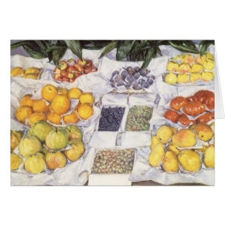 Fruit Stand by Gustave Caillebotte, Vintage Art Greeting Card
