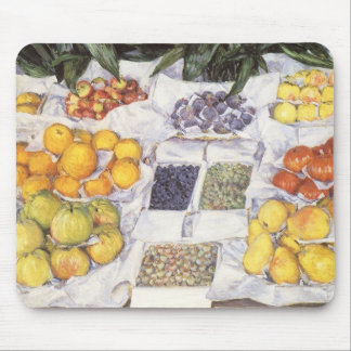Fruit Stand by Gustave Caillebotte, Vintage Art Mouse Mat