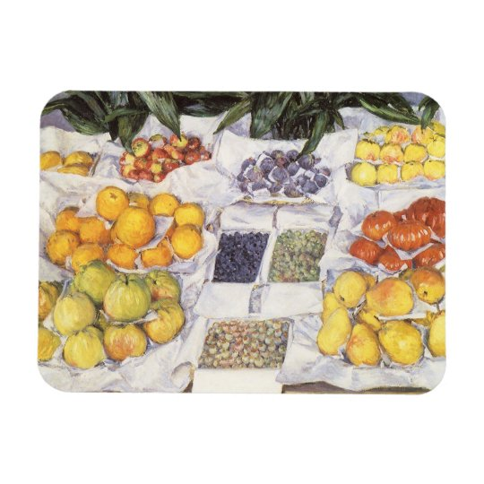 Fruit Stand by Gustave Caillebotte, Vintage Art Rectangular Photo Magnet