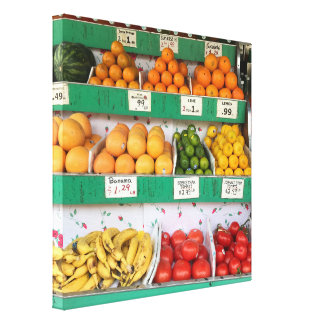 Fruit Stand, Columbus Avenue, New York City, NYC Canvas Print