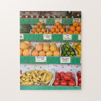 Fruit Stand, Columbus Avenue, New York City, NYC Jigsaw Puzzle