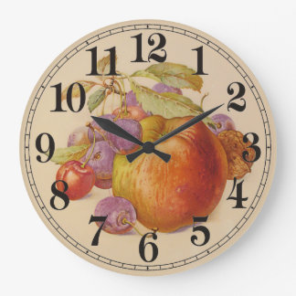 Fruit Still Life Large Clock