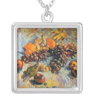 Fruit Still Life, Vincent Van Gogh Square Pendant Necklace