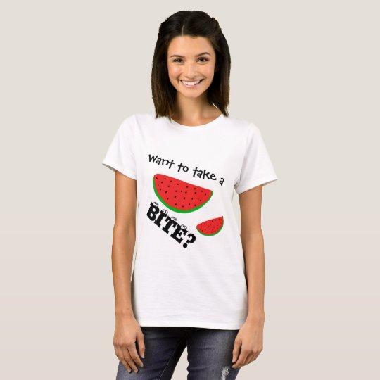 fruit t-shirt,watermelon - take a bite T-Shirt