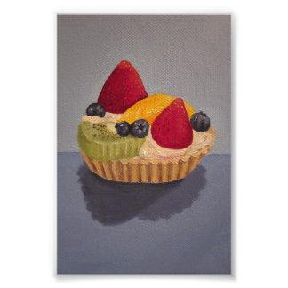 Fruit Tart Painting Photo
