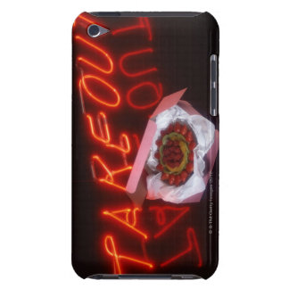 Fruit tart with neon take-out sign Case-Mate iPod touch case