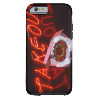 Fruit tart with neon take-out sign tough iPhone 6 case