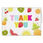 Fruit Thank you card Two-tti frutti Tutti Fruity