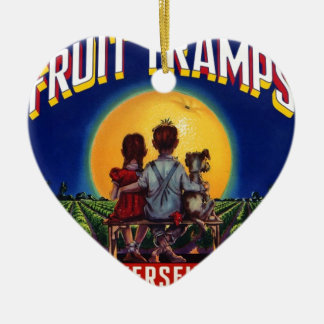 Fruit Tramp Fun Christmas Ornament