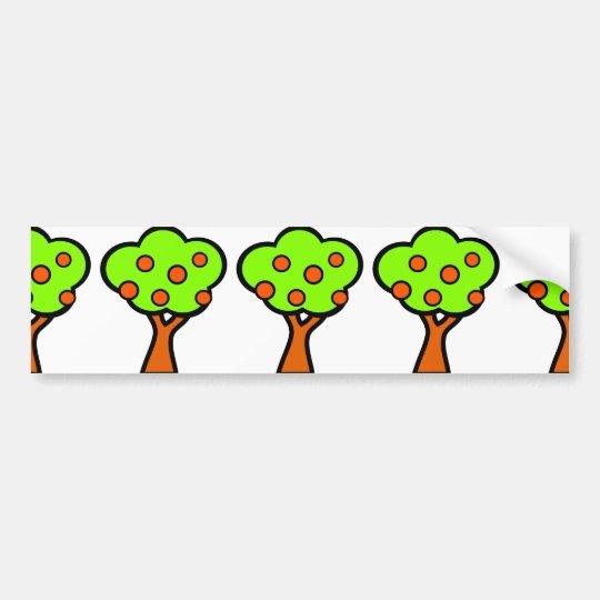 Fruit Tree Bumper Sticker