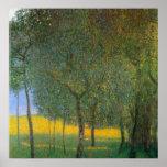 Fruit Trees by Gustav Klimt Poster