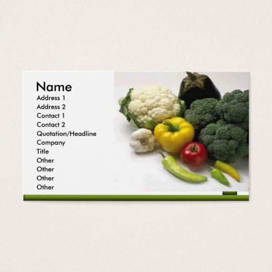 fruit & vegetables Business Card