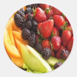 FRUIT VEGETABLES CLASSIC ROUND STICKER