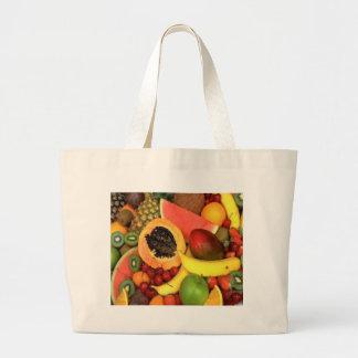 FRUIT VEGETABLES LARGE TOTE BAG