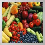 FRUIT & VEGETABLES POSTER