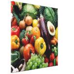 FRUIT  VEGETABLES STRETCHED CANVAS PRINT