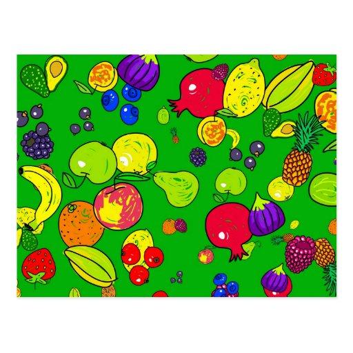 Fruit Wallpaper Postcard