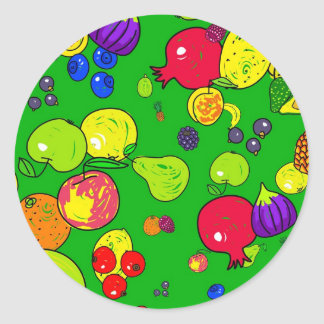 Fruit Wallpaper Round Sticker