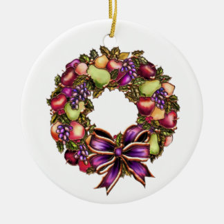 Fruit Wreath Personalized Christmas Ornament