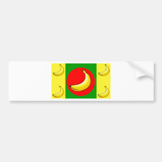 Fruit Yellow Bananas Sweet Destiny Desserts Bumper Sticker