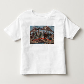 Fruita, Colorado - Large Letter Scenes Toddler T-Shirt