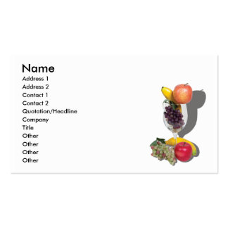 FruitCocktailCard, Name, Address 1, Address 2, ... Pack Of Standard Business Cards