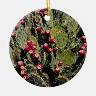 Fruited prickly pear cactus, Sonoran Desert Christmas Ornament
