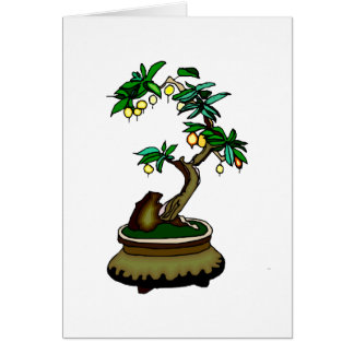 Fruiting Bonsai in Pot Bonsai Graphic Image Note Card