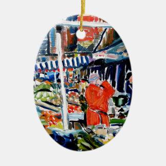 fruitnvegstall ceramic oval decoration