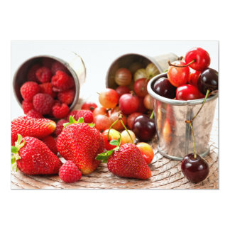 Fruits and berries 13 cm x 18 cm invitation card