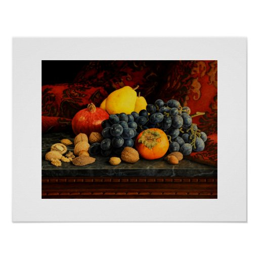 Fruits and Nuts Poster